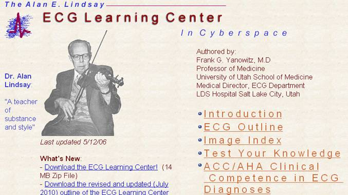 ECG learning center