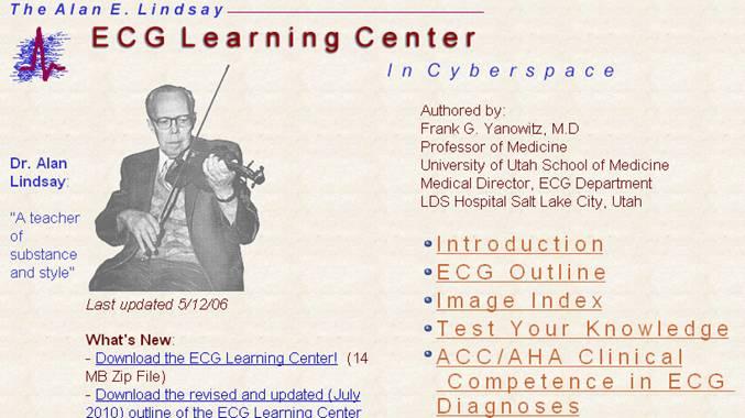 ECG learning center